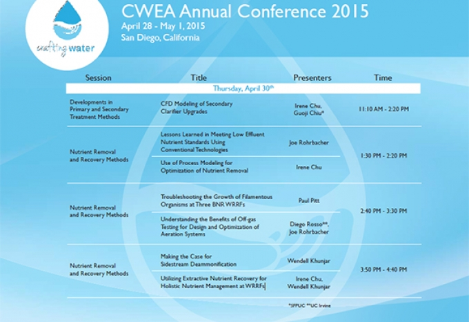 2015 CWEA Annual Conference | Hazen and Sawyer